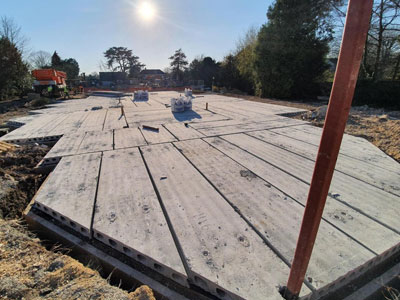Hollowcore Quinn Precast Floors Lawrence Baker Newmarket care home construction
