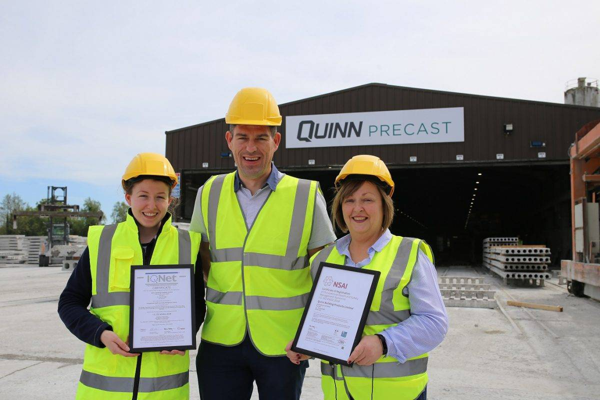 Quinn Precast ISO 45001