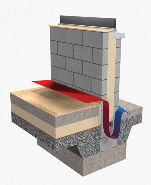 Thermal bridging wall to floor junction